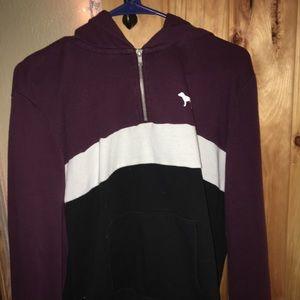 Pink Victoria's Secret half zip up hoodie